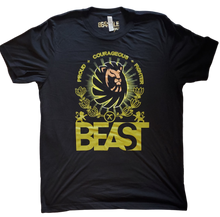Load image into Gallery viewer, Black Tee with Lion Beast Graphic