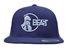 Load image into Gallery viewer, The Gorilla - Navy Blue Snapback w White Logo