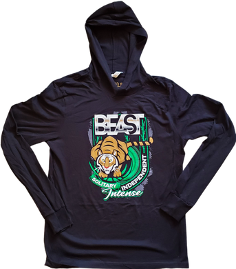 The Tiger - Black Pullover Hoodie