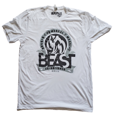 The Bear - White Tee with Black/Gray Graphic
