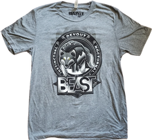 Load image into Gallery viewer, Gray Tee with Beastyle Wolf Graphic