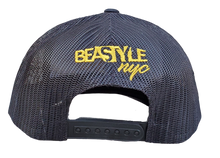 Load image into Gallery viewer, The Gorilla - Black Trucker Mesh with Gold Logo