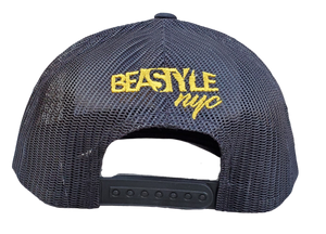 The Gorilla - Black Trucker Mesh with Gold Logo