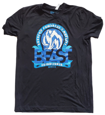 The Bear - Black Tee with Blue Graphic