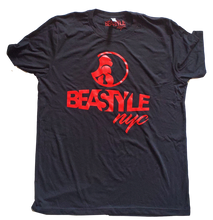 Load image into Gallery viewer, Black and Red Beastyle NYC Tee