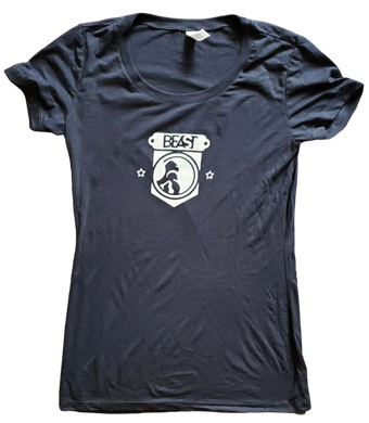Black Lady Tee with Gorilla Shield