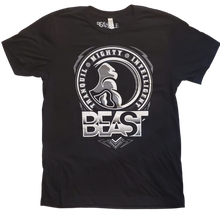 Load image into Gallery viewer, Black Tee with Beastyle Gorilla Profile Graphic