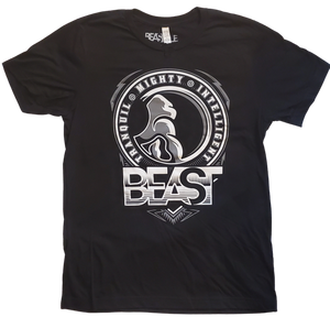 Black Tee with Beastyle Gorilla Profile Graphic