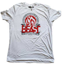 Load image into Gallery viewer, The Bear - White Tee with Red/Gray Graphic