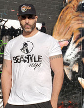 Load image into Gallery viewer, White Tee with Black Gorilla Beastyle Graphic