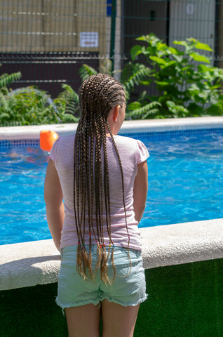 How to make box braids in kids step by step