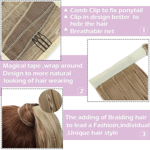 High Ponytail Updo Hair Extension Clip-in