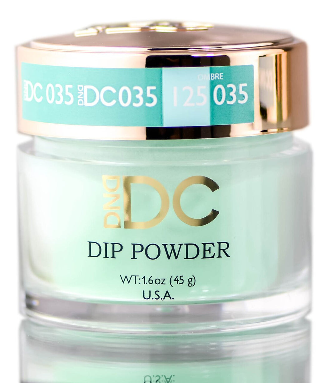 DND DC DIP POWDER FOR NAILS BLUES & GREENS