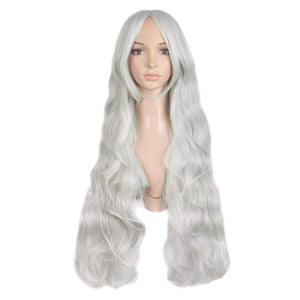 Cosplay Wig Costume Hair Anime Full Wavy Party Wig Log Hair 80 cm
