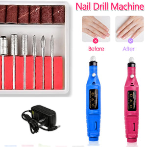 Nail Art Fas Drill Electric Nail Polisher File Buffer Bits Acrylic Portable Machine