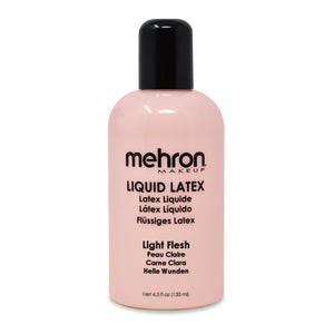 Mehron Liquid Latex Clear Flesh Beige Liquid Latex Make Up 1oz 4.5 oz 9oz 16oz