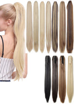 Load image into Gallery viewer, Claw Clip On Ponytail Hair Extensions Hairpiece