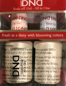 DND Daisy Soak Off Gel Polish Top Coat 400 Base Coat 500 LED UV Gel Duo