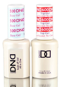 DAISY DND 500 BASE GEL & 600 TOP GEL DUO SET, SOAK OFF GEL