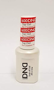 DND Soak off Gel Top Coat No Cleanser UV/LED 0.5 fl oz - #600