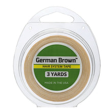 "Load image into Gallery viewer, German Brown Liner Cloth Hairpiece Tape Roll  3/4"" x 3 Yard"