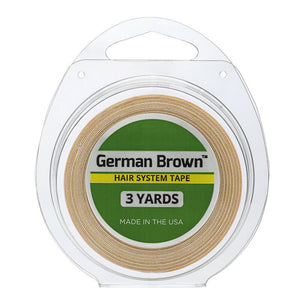 "German Brown Liner Cloth Hairpiece Tape Roll  3/4"" x 3 Yard"