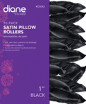 Diane Satin Pillow Rollers Black  D5042 - 7/8""