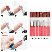 Load image into Gallery viewer, Nail Art Fas Drill Electric Nail Polisher File Buffer Bits Acrylic Portable Machine
