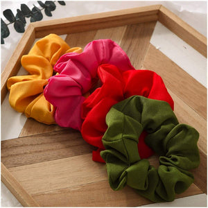 Scrunchies Solid Color Hair Ties Elastic Bands Ponytail Holder 20PCS / Bag