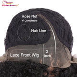Kinky Curly Lace Front Side Part