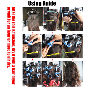 Twist Flex Flexi Rods Foam Magic Hair Curlers Styling Tools 42 Pack-Apexhairs