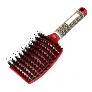 Bristle & Nylon Hairbrush Wet Curly Detangle Hair Brush