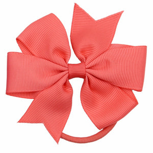 40 PCS Girl Ribbon Hair Bows Elastic Ties
