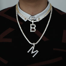 Load image into Gallery viewer, Rock Hip Hop Bling Jewelry Diamond Letter Pendant And Necklace