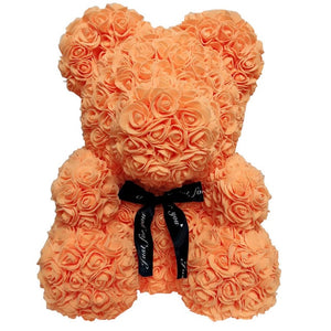 "Large Red Rose Bear Flowers Rose Bear Rose Teddy Bear Best Gift for Valentines Day 10"" inch Bear"