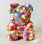 MULTI COLOR ROSE BEAR
