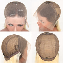 Load image into Gallery viewer, Short Bob Wig Brazilian Hair Lace Front Blond With Dark Brown Part