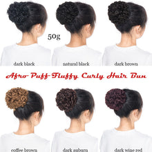 Load image into Gallery viewer, Afro African American Puff Drawstring Ponytail Bun