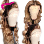 Ombre Brazilian Lace Front Human Hair Wigs With Baby Hair Body Wave-Apexhairs
