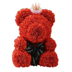 RED WITH CROWN ROSE BEAR