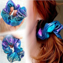 Load image into Gallery viewer, 8 Pieces Shiny Metallic Glitter Scrunchies , Girls Hair Scrunchies , Scrunchie Elastics Hair Tie for Women