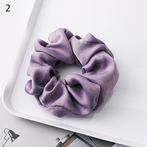 1PC Silky Satin Hair Scrunchies Women Elastic Hair Bands Bright Color Ponytail Holder Hair Accessories Solid Rope Ties Headwear