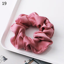 Load image into Gallery viewer, 1PC Silky Satin Hair Scrunchies Women Elastic Hair Bands Bright Color Ponytail Holder Hair Accessories Solid Rope Ties Headwear