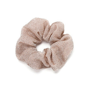 Gold And Silver Bling Glitter Hair Scrunchie Elastic Hair Bands Women Ladies Fashion Hair Accessories Ties Rope Band For Dancing