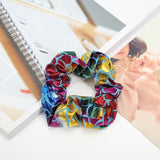 Mermaid Pattern Elastic Hair Scrunchies for Girls Women Shiny Hair Ties Ponytail Holder Hair Band Accessories