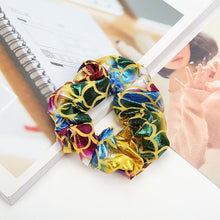 Load image into Gallery viewer, Mermaid Pattern Elastic Hair Scrunchies for Girls Women Shiny Hair Ties Ponytail Holder Hair Band Accessories