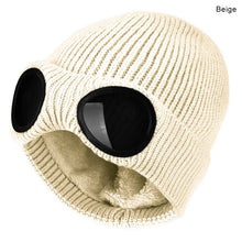 Load image into Gallery viewer, Winter Hat Knitted Ski Cap Warm Windproof  With Removable Glasses