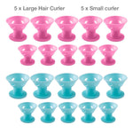 Silicone Heatless Hair Curlers Hair Rollers Soft Magic DIY Curling Hairstyle 10 PCS