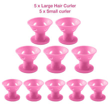 Load image into Gallery viewer, Silicone Heatless Hair Curlers Magic Hair Rollers 10 PCS