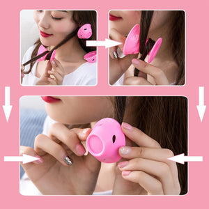 Silicone Heatless Hair Curlers Magic Hair Rollers 10 PCS